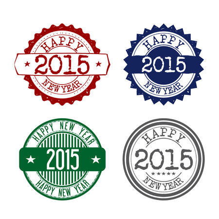 Stamps graphics for the new 2015 - vintage Vector