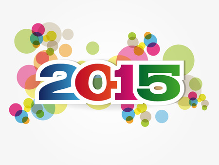 Abstract Background - Happy New Year 2015 Vector
