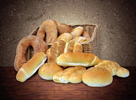 breads in basket photo