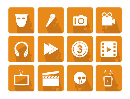iphon: Set of the main icons of the fun - orange