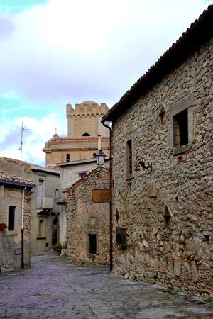 Montalbano elicona - medieval village in Sicily
