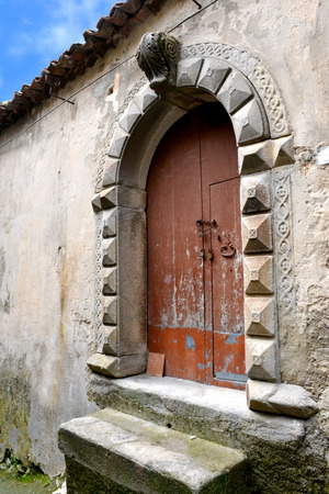 megaliths: Montalbano elicona - medieval village in Sicily