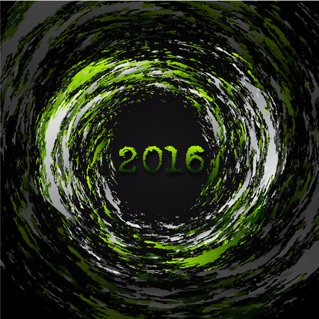 outgoing: Abstract Background - Happy New Year 2016 Illustration