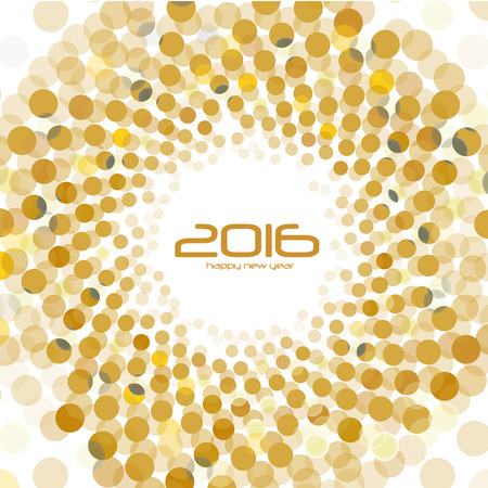 january 1: Abstract Background - Happy New Year 2016 Illustration