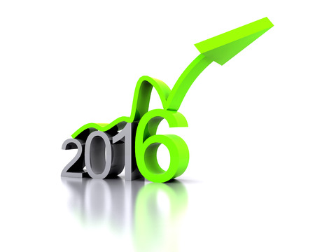 replaced: 3D illustration - a recovery in the New Year 2016
