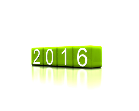 replaced: 3D illustration - says with new year 2016