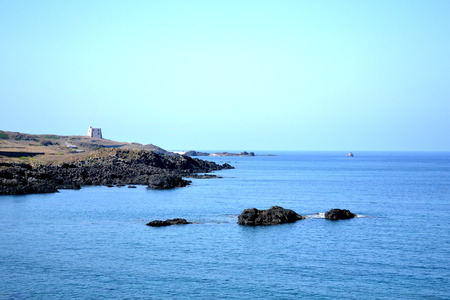 beautiful coast of the island of Ustica - Sicily photo