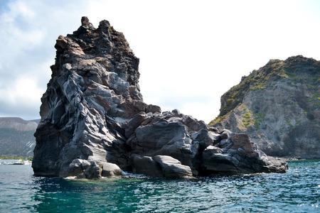 aeolian: Coast of the beautiful island of the volcano - Sicily