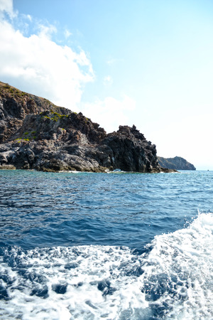 marine environment: Coast of the beautiful island of the volcano - Sicily