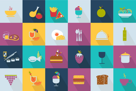 brochetas de frutas: Conjunto de iconos de comida de estilo Web 2.0