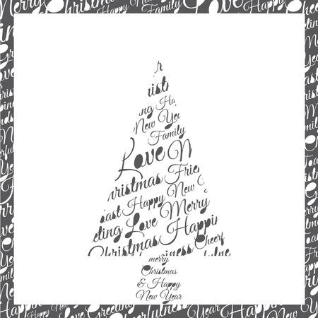 phrases: �rbol de Navidad formado por frases y dedicatorias