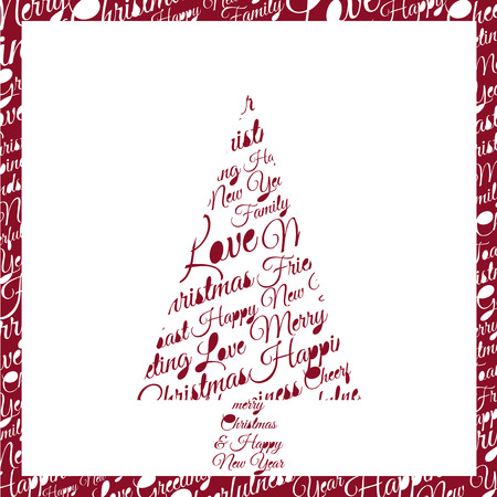 phrases: Christmas tree made up of phrases and dedications