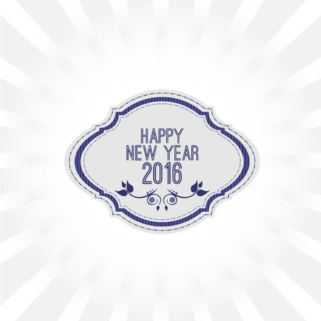 1 january: Abstract Background  Happy New Year 2016 Illustration