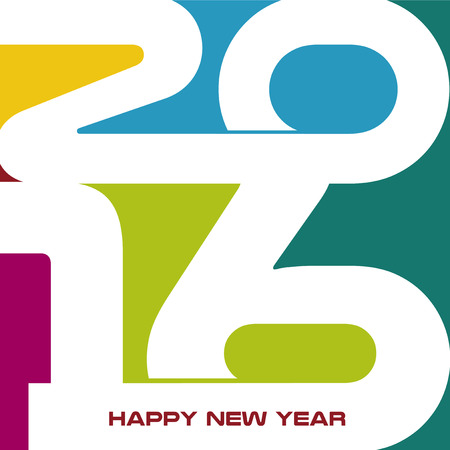 futures: Abstract Background  Happy New Year 2016 Illustration