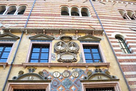 the po valley: Verona the beautiful historic center of the Veneto  Italy
