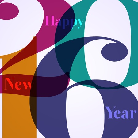 1 january: Abstract Background - Happy New Year 2016 Illustration
