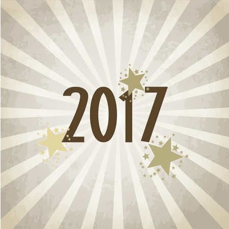 january 1: Check new year 2017 - background