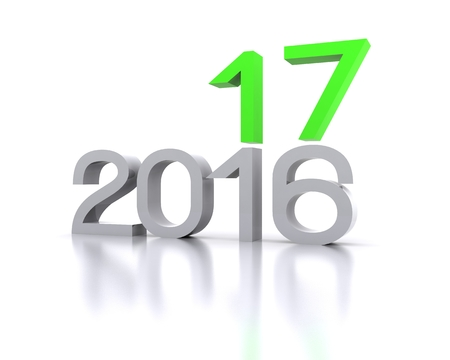futures: 3D background with new year coming - 2017