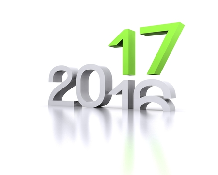 3D background with new year coming - 2017