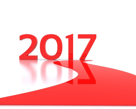 replaced: 3D background with new year coming - 2017