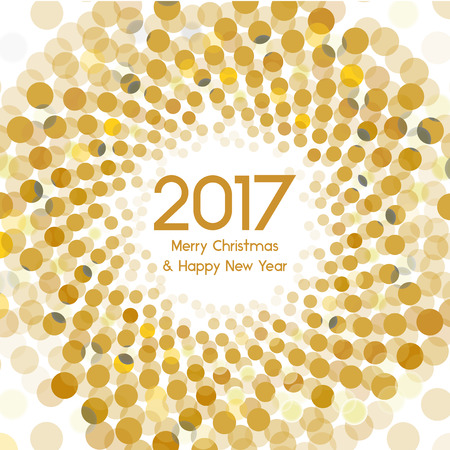 1 january: Graphic background for the new year coming - 2017 Illustration