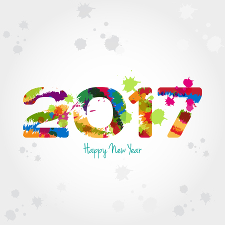 Graphic background for the new year coming - 2017 Illustration