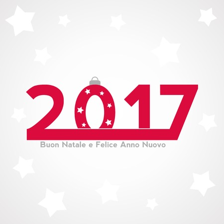 Christmas festive background with new year 2017