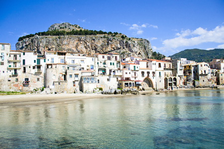 Beautiful coast of Cefalù, Palermo - Sicily