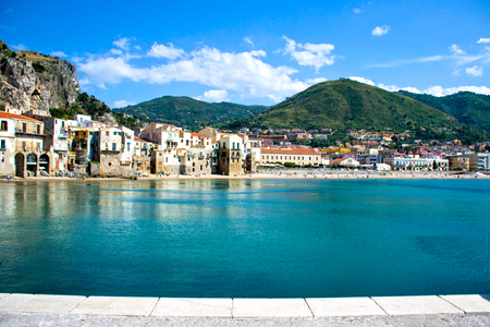 windows and doors: Beautiful coast of Cefalù, Palermo - Sicily