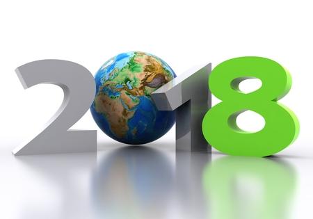 Happy New Year 2018 - 3D