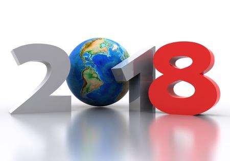 Fondo de año nuevo 2018 - 3D