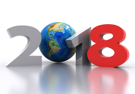 New Year 2018 Background - 3D