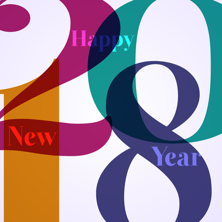 Abstract background for the arrival of new year 2018 Illustration