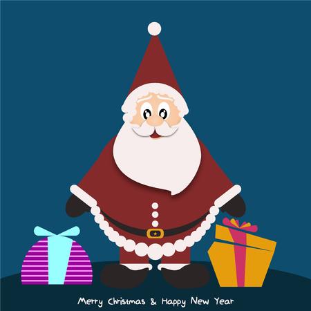 サンタ クロースと背景  イラスト・ベクター素材