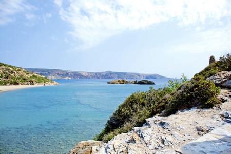 Wonderful beach on the island of Crete, Greece