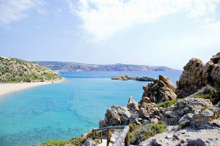 Wonderful beach on the island of Crete, Greece Banco de Imagens - 97243462