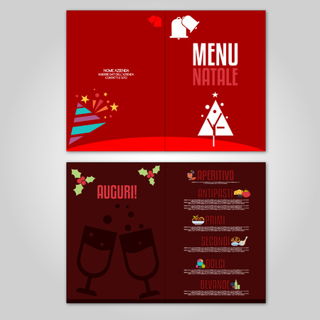 Christmas Menu - generic template for Christmas lunch or dinner