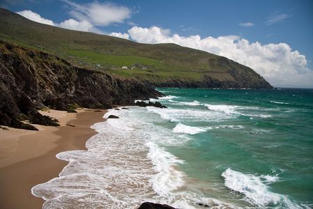 surfen: Beach in Ireland