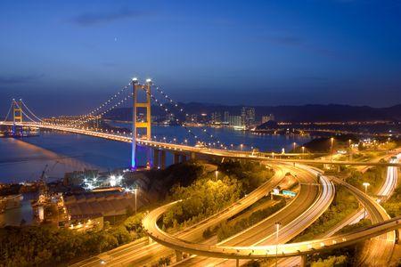 ma: Tsing Ma Bridge night view
