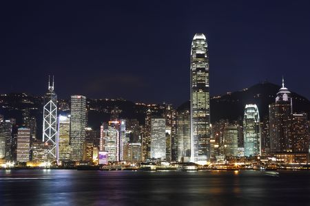 Hong Kong At Night Stock Photo - 5330890