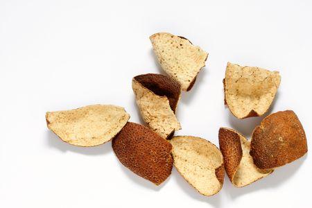 sundried: Chen pi, sun-dried tangerine peel. Stock Photo
