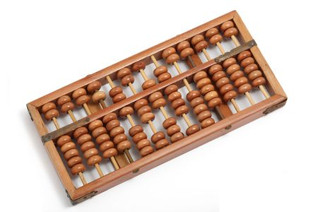 examiner: A close up of vintage abacus