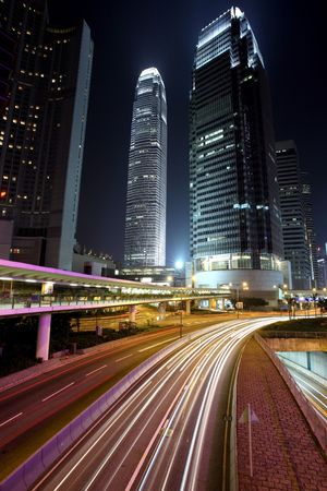 Traffic in Hong Kong at night Stock Photo - 6134491