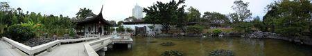 asian garden panorama photo