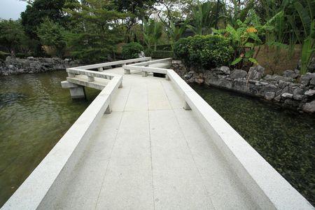 bridge in chinese garden photo