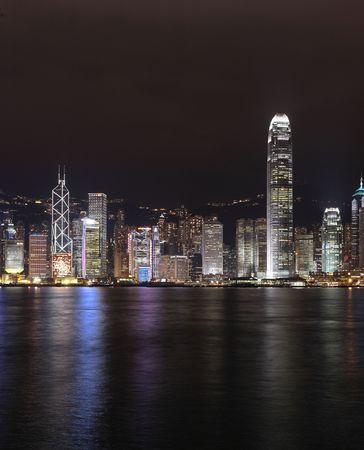 Hong Kong skyline at night Stock Photo - 6320609