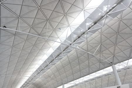 ceiling of Hong Kong International Airport photo