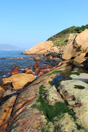 shek: Shek O coast, in Hong Kong, China Stock Photo
