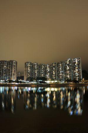 Hong Kong public house and river photo