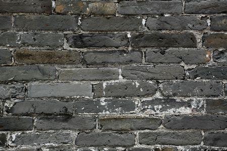 old chinese blue bricks wall photo